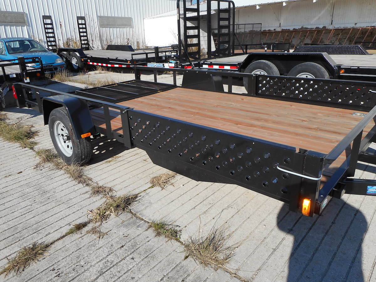 badger trailer and power single axle utility trailers Homemade ATV Trailer Plans forest river 7 x 12 atv utility trailer