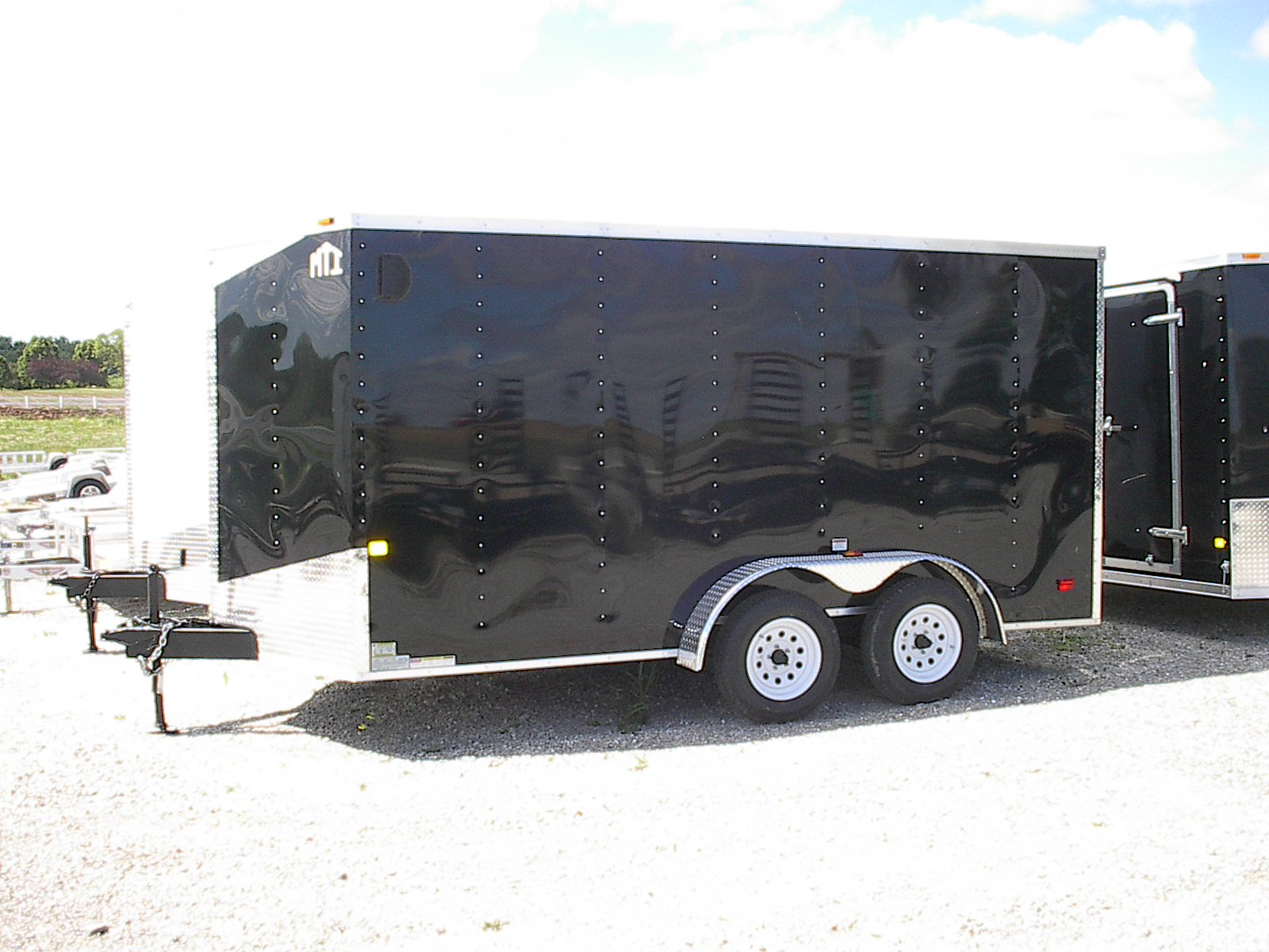 Badger Trailer And Power Cargo Trailers Double Car 24 Foot Gooseneck Flatbed 7 X 14 Mwt V Nose Ramp